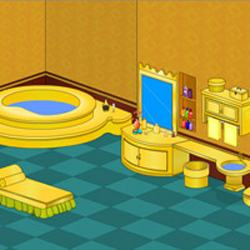 Golden Bathroom Escape Game