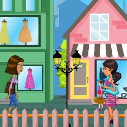 Shopping Teen Girl Dress Up Game