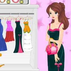 Shy Girl Mood Dress Up Game