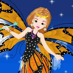 Peppy Fairy Girl Dress Up Game