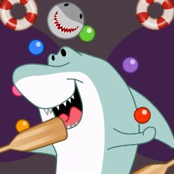 Crazy Shark Ball Game