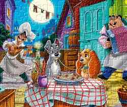Lady &amp; Tramp Jigsaw Game