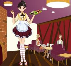 Waitress Dress Up Game