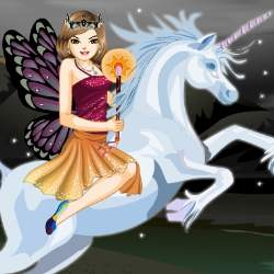 Unicorn Ride Dress Up Game