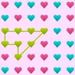 Connect Hearts Game