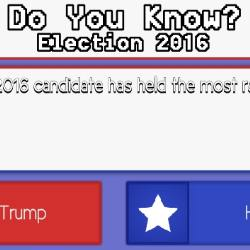 Do You Know? Election 2016 Game