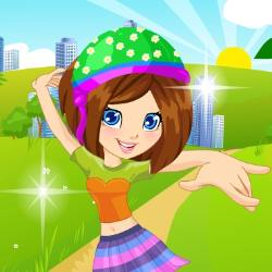 Polly on Roller Skates Dress Up Game