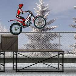 Bike Trial Snow Ride Game