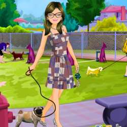 Dog Park Fashion Dress Up Game