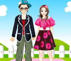 Valentine Couple Dressup Game